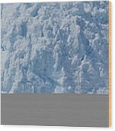 Icebergs Calving From Chenaga Glacier Wood Print