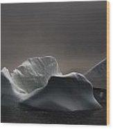 Icebergs In Fog, Quirpon Island Wood Print