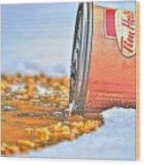 Iced Cap Wood Print