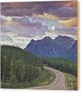 Icefields Parkway, Jasper National Wood Print