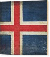 Iceland Flag Wood Print