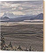 Iceland Stacked  Rocks Panorama Wood Print