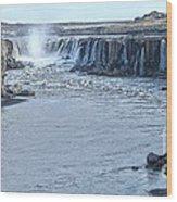 Iceland Waterfall Selfoss 03 Wood Print
