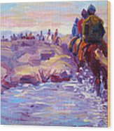 Icelandic Horse Trail Ride Wood Print