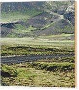 Icelandic Landscape Wood Print