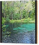 Ichetucknee Blue Hole Spring Wood Print