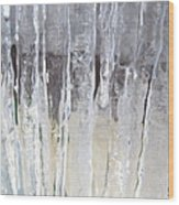 Icicle Curtain Wood Print