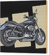 Iconic Harley Davidson Wood Print