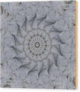 Icy Mandala 1 Wood Print