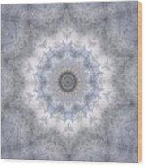Icy Mandala 5 Wood Print