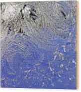 Icy Window Pane Wood Print