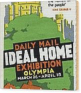 Ideal Home Exhibition Stamp, 1920 Wood Print by Cci Archives