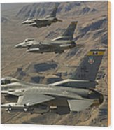 Ighter Jets Return From The Nevada Test Wood Print