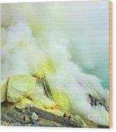 Ijen Crater Wood Print