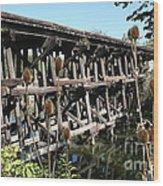 Illinois Central Wooden Train Bridge Wood Print