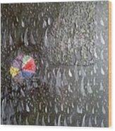 Illusion Of Black Rain Wood Print