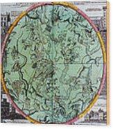 Illustration From Atlas Coelestis Wood Print