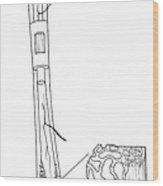 Illustration Of Bone Structure Wood Print