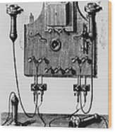 Illustration Of The Bell Telephone Wood Print