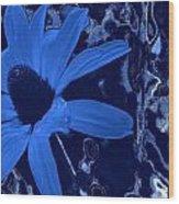 I'm So Blue Wood Print