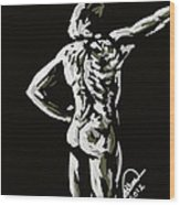 Imaginative Figure Drawing Wood Print