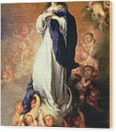 Immaculate Conception Of The Escorial Wood Print