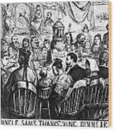 Immigration Cartoon, 1869 Wood Print