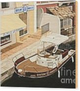 Immobilier Wood Print by Carina Mascarelli
