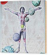 Immune System Components Wood Print by Hans-ulrich Osterwalder