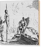 Impalement Of Waldenses Wood Print