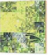 Impatience Geometric Yellow Wood Print