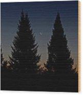 Impending Sunrise Wood Print