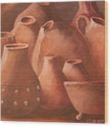 Imperfect Indian Pottery Wood Print by Janna Columbus