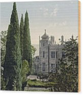 Imperial Castle In Alupku -ie Alupka -  Crimea - Russia - Ukraine Wood Print