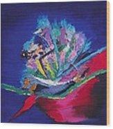 Impression Of Flowers Wood Print