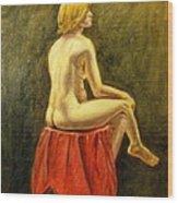 Impressionist Nude Wood Print