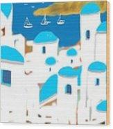 Impressions Of Greece Wood Print