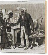 In 1877 Frederick Douglass 1818�95 Wood Print by Everett
