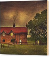 In A Village Wood Print