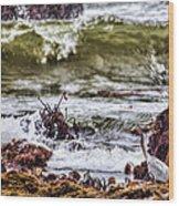 In-coming Tide Wood Print