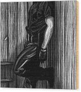 In Dark Alleys Wood Print by Brent  Marr