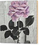 In Her Garden Wood Print
