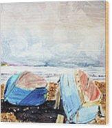 In Secca Sulla Spiaggia Wood Print