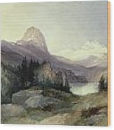 In The Bighorn Mountains Wood Print by Thomas Moran