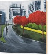 In The City 2 Wood Print