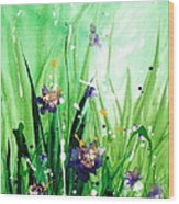 In The Garden V Wood Print