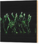 In The Green Light Wood Print