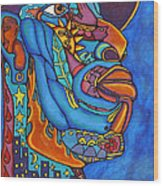 In The Grip Of The Blues Wood Print