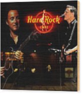 In The Hard Rock Cafe Wood Print by Steve K