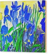 In The Iris Bed Wood Print